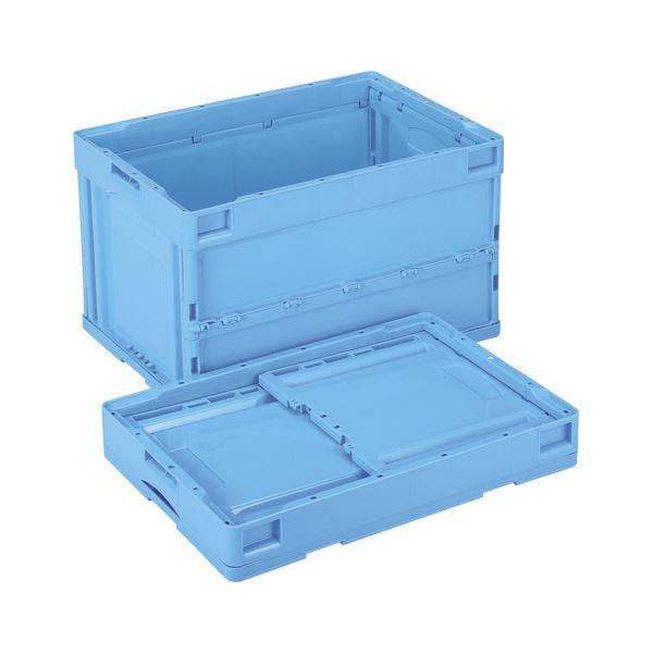 岐阜プラスチック工業 折畳みコンテナー 蓋なし ブルー CB-S51NR(ブルー)【日時指定不可】