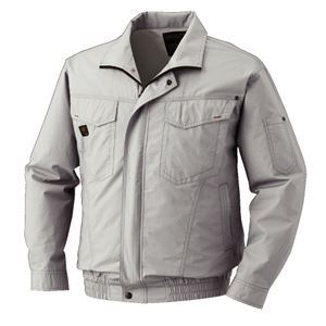 空調服 綿薄手長袖タチエリブルゾン リチウムバッテリーセット BM-500TBC06S4 シルバー 2L【日時指定不可】