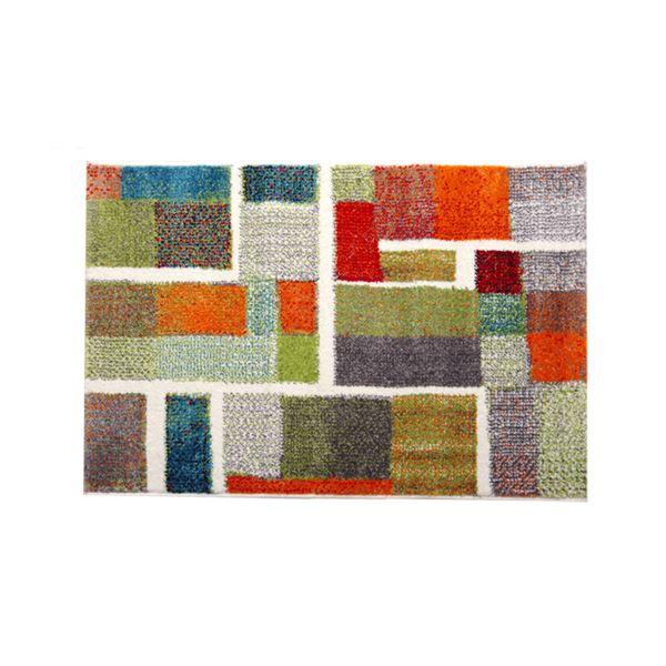 玄関マット トルコ製 ウィルトン織り 『エデン』 レッド 約70×120cm【日時指定不可】