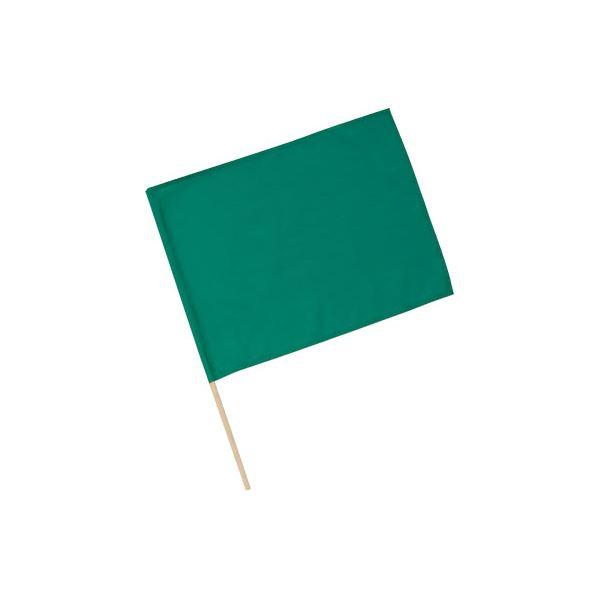 (まとめ)アーテック 旗/フラッグ 【小】 410×300mm ポリエステル・綿製 グリーン(緑) 【×40セット】【日時指定不可】