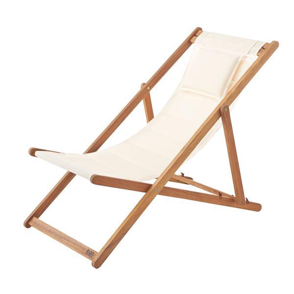 天然木デッキチェア(折りたたみ椅子) 木製/アカシア NX-512 〔アウトドア キャンプ お庭 テラス〕【日時指定不可】