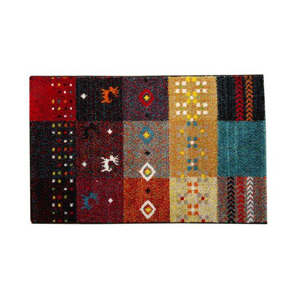 玄関マット フロアマット トルコ製 ウィルトン織り 『フォリア』 レッド 約70×120cm【日時指定不可】