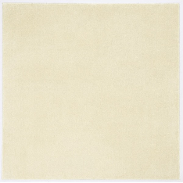 防炎&防音 ナイロンラグ/絨毯 【200cm×200cm アイボリー】 正方形 日本製 スミノエ 『カーム』 〔リビング〕【代引不可】【日時指定不可】