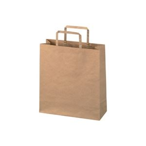 (業務用40セット) ジョインテックス 手提袋 平紐 茶 小 50枚 B291J-B【日時指定不可】
