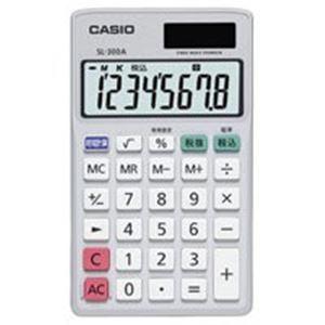 (業務用40セット) カシオ CASIO 手帳サイズ電卓 SL-300A-N【日時指定不可】