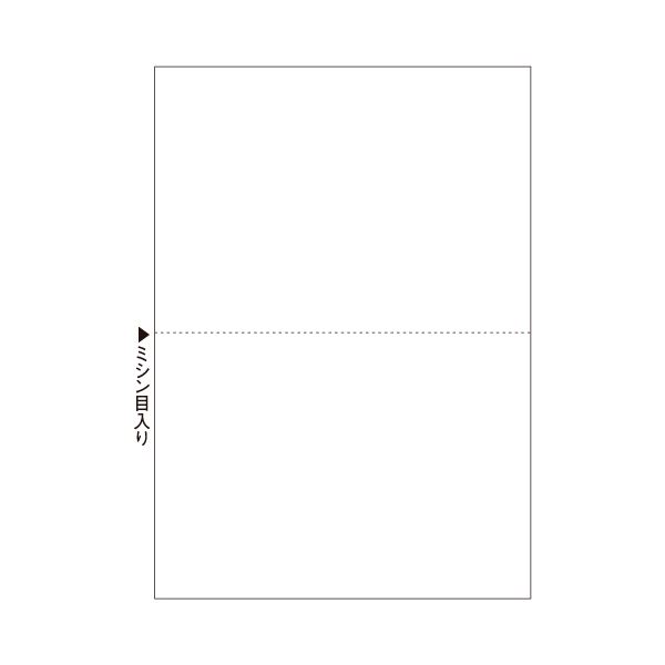 (まとめ) ヒサゴ マルチプリンター帳票(エコノミープライス) A4 白紙 2面 BPE2002 1箱(2500枚) 【×4セット】【日時指定不可】