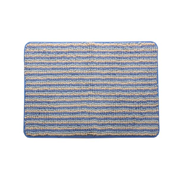 バスマット フロアマット 洗える 抗菌防臭 吸水 部屋干しOK 『プラチナクリーン ナリ』 ブルー 約50×75cm