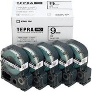 (業務用5セット) キングジム テプラ PROテープ/ラベルライター用テープ 【幅:9mm】 5個入り SS9K-5P ホワイト(白) 【日時指定不可】