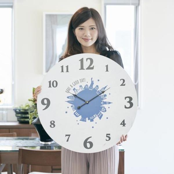 モチーフクロック townシリーズ/壁掛け時計 【LLサイズ/ニューヨーク】 直径60cm【日時指定不可】