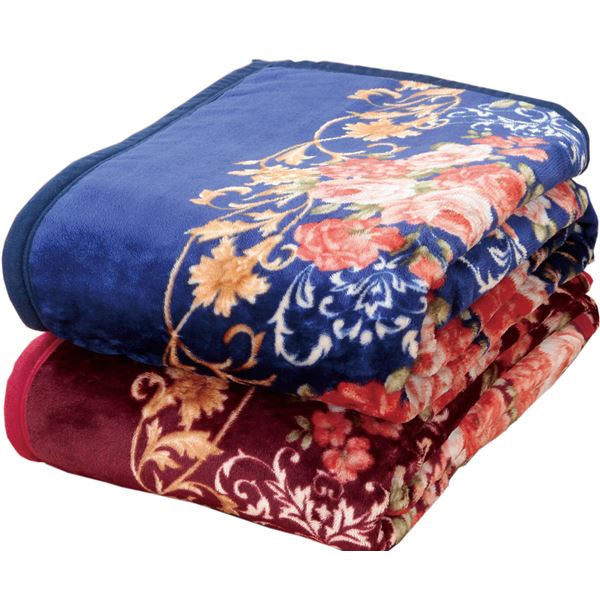 ニューマイヤー毛布&オーロラ敷パッドセットダブル4点セット【代引不可】【日時指定不可】