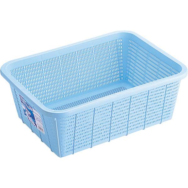 【30セット】 キッチンバスケット/キッチン用品 【DLサイズ】 ブルー 材質:PP メッシュ形状 『HOME&HOME』【代引不可】【日時指定不可】