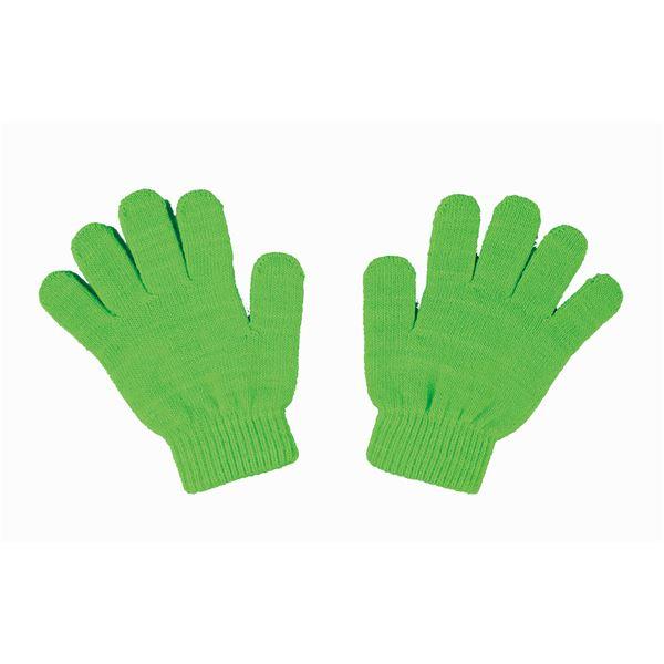 (まとめ)アーテック カラーのびのび手袋 【子供用サイズ】 アクリル製 蛍光グリーン(緑) 【×40セット】【日時指定不可】
