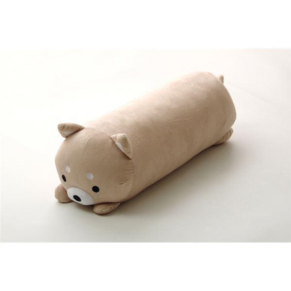 抱きまくら まくら 枕 クッション 動物 犬 いぬ イヌ 『ふわもち アニマル 抱き枕 柴犬』 ベージュ 約20×57cm【日時指定不可】
