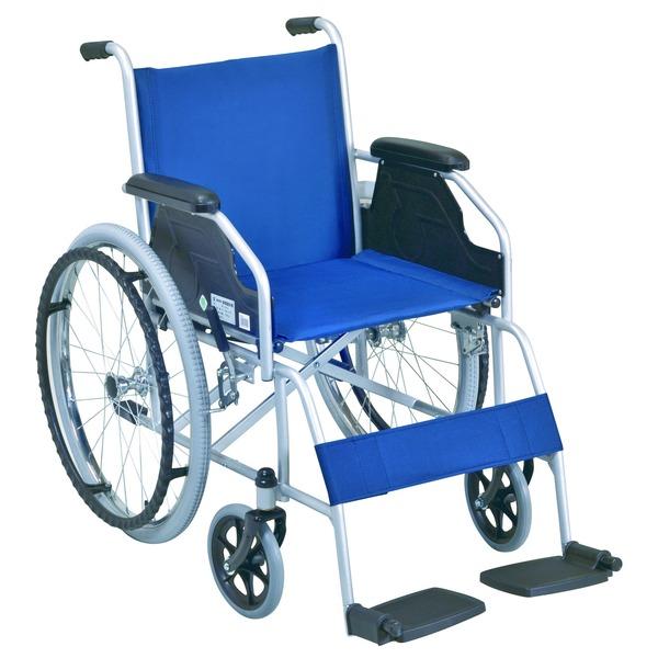 自走式 車椅子 【テイコブ標準型】 折り畳み スチール製 SG取得商品 〔介護用品 福祉用品〕【日時指定不可】