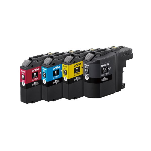 ブラザーインクカートリッジ 4色パック大容量 LC117/115-4PK【日時指定不可】
