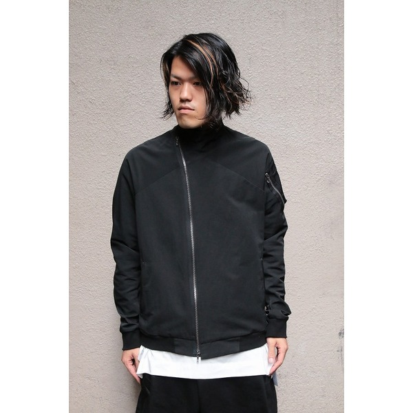 JULIUS ジャットネックボマージャケット BLACK サイズ2【日時指定不可】