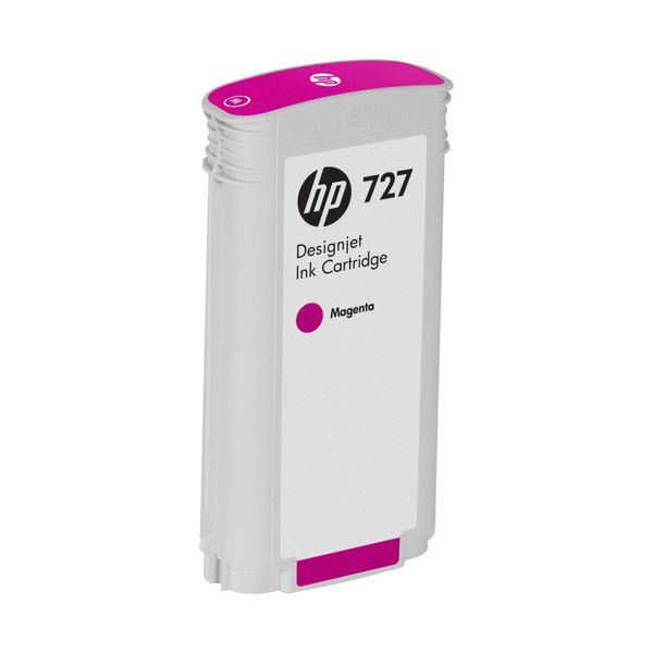 (まとめ) HP727 インクカートリッジ 染料マゼンタ 130ml B3P20A 1個 【×3セット】【日時指定不可】