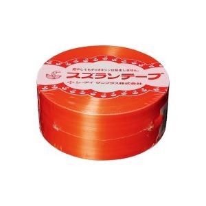 (業務用100セット) CIサンプラス スズランテープ/荷造りひも 【橙/470m】 24203106【日時指定不可】