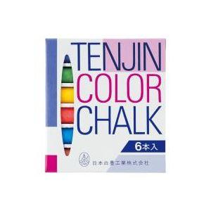 (業務用200セット) 日本白墨工業 天神チョーク 6S-8 色 6本入【日時指定不可】
