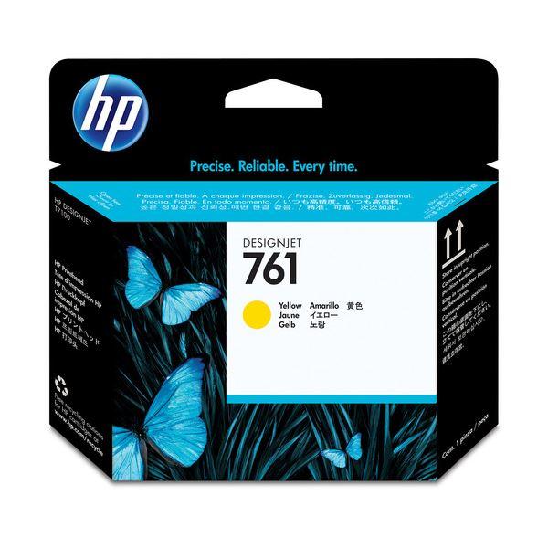 (まとめ) HP761 プリントヘッド イエロー CH645A 1個 【×3セット】【日時指定不可】