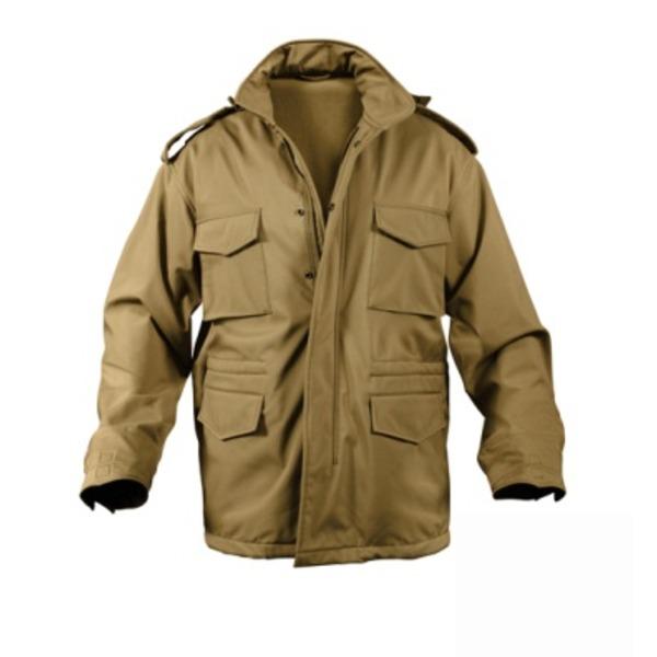 ROTHCO(ロスコ) ソフトシェルタクティカル M65フィールドジャケット ROGT140980 コヨーテ ブラウン M【日時指定不可】