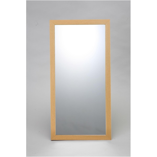 ウォールミラー/全身姿見鏡 【壁掛け用】 L2 木製フレーム 壁掛けひも付き 日本製 ナチュラル【日時指定不可】