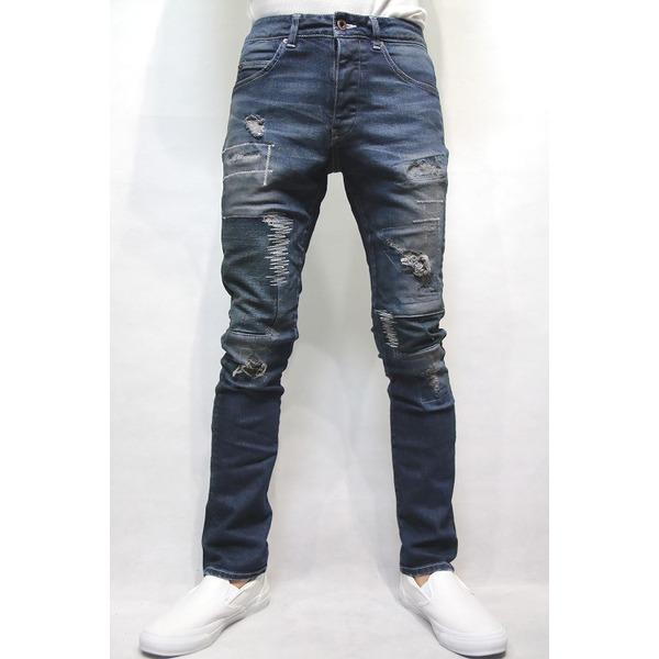 VADEL tight&easy denim trousers INDIGO サイズ44【代引不可】【日時指定不可】