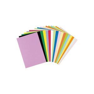 (業務用50セット) リンテック 色画用紙R/工作用紙 【A4 50枚】 みかん【日時指定不可】