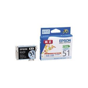 (業務用70セット) EPSON エプソン インクカートリッジ 純正 【ICLC51】 ライトシアン【日時指定不可】