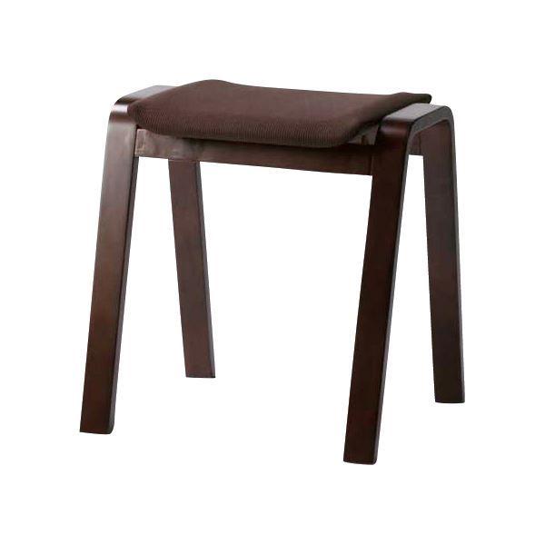 (4脚セット) スタッキングスツール/腰掛け椅子 ブラウン TSC-117BR【日時指定不可】