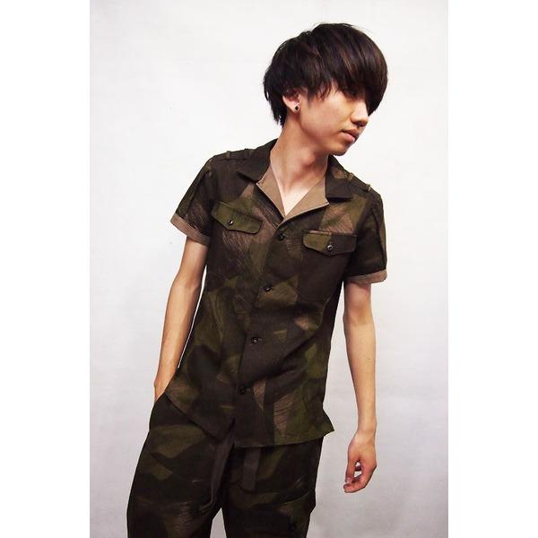 VADEL combat shirts SS KHAKI×BEIGE サイズ44【代引不可】【日時指定不可】