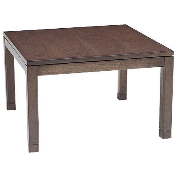 リビングこたつテーブル/センターテーブル 本体 【幅90cm ミドルタイプ/ブラウン】 正方形 継ぎ足 『シェルタ』【代引不可】