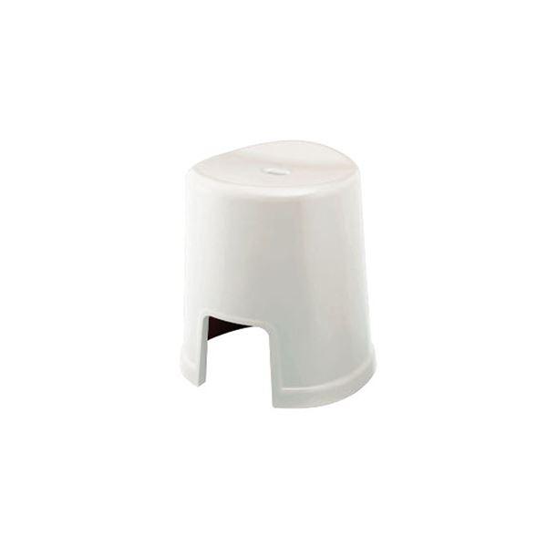 【12セット】 シンプル バスチェア/風呂椅子 【400 ホワイト】 すべり止め付き 材質:PP 『HOME&HOME』【代引不可】【日時指定不可】