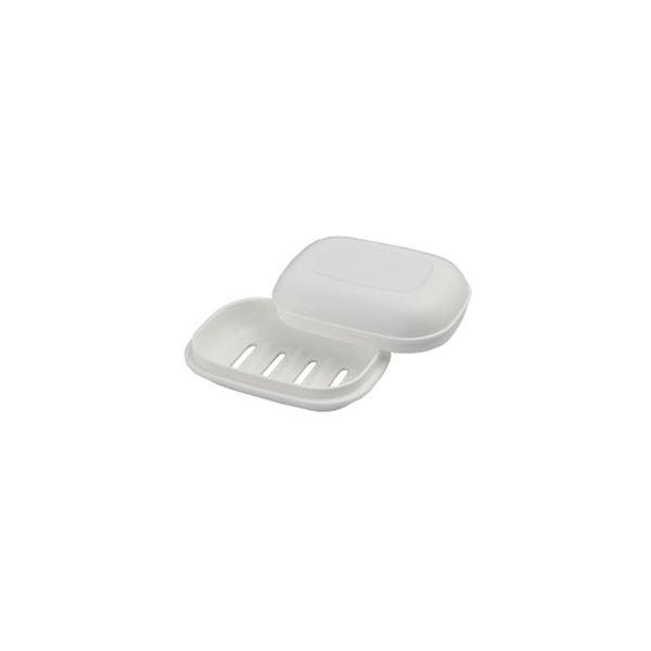 【60セット】 シンプル 石鹸箱/ 石鹸置き 【ホワイト】 材質:PP 『HOME&HOME』【代引不可】【日時指定不可】