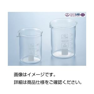 (まとめ)硼珪酸ガラス製ビーカー(ISOLAB)400ml【×10セット】【日時指定不可】