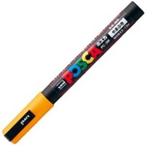(業務用200セット) 三菱鉛筆 ポスカ/POP用マーカー 【細字/山吹】 水性インク PC-3M.3【日時指定不可】