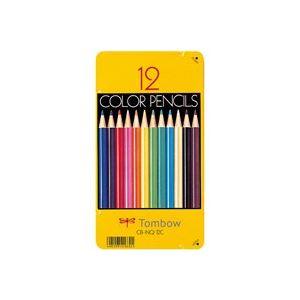(業務用50セット) トンボ鉛筆 色鉛筆 CB-NQ12C 12色 缶入【日時指定不可】