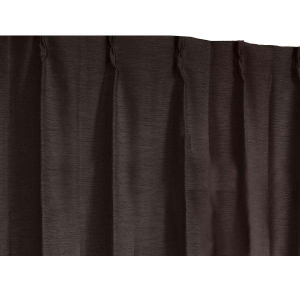 多機能シンプルカーテン 【2枚組 100×178cm/ブラウン】 3重加工 『ラウンダー』 洗える・形状記憶 〔遮光 遮熱 遮音 保温〕
