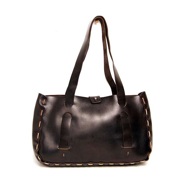 ★dean(ディーン) small whip stitched tote トートバッグ 茶【日時指定不可】