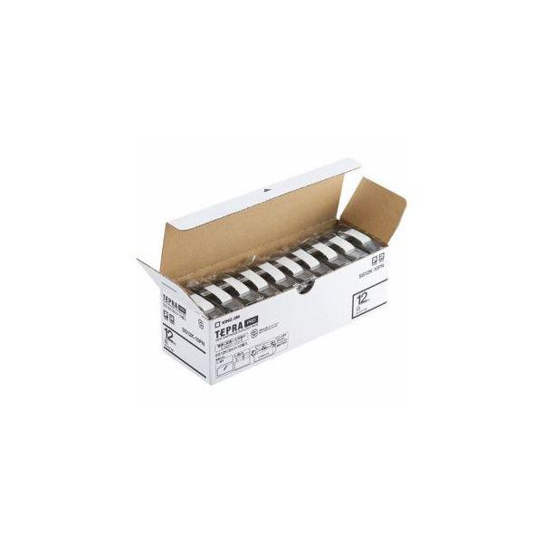 キングジム SS12K-10PN テプラPROテープ エコパック 白 黒文字 12mm幅 8m 10個入【日時指定不可】