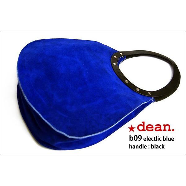 ★dean(ディーン) machine stitch tear-drop ショルダーバッグ elctlic blue(青)【日時指定不可】