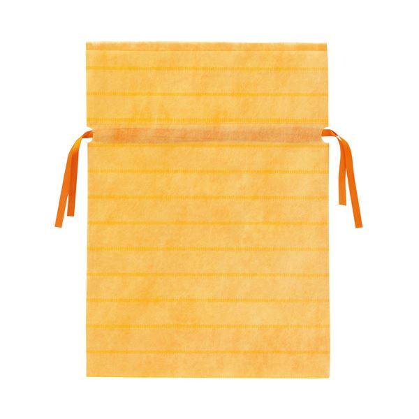 (業務用10セット) カクケイ 不織布リボン付き巾着袋 黄 L 10枚 FK3042【日時指定不可】