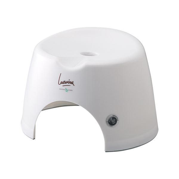 【16セット】 バスチェア/風呂椅子 【小 プラチナホワイト】 すべり止め付き 『AGラスレウ゛ィーヌ』【代引不可】【日時指定不可】