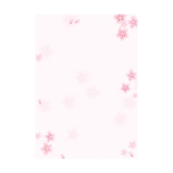 (業務用20セット) ササガワ 和柄用紙 4-1005 和ごころ 桜【日時指定不可】