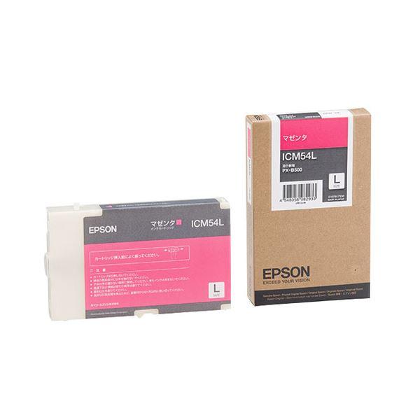 (まとめ) エプソン EPSON インクカートリッジ マゼンタ Lサイズ ICM54L 1個 【×3セット】【日時指定不可】