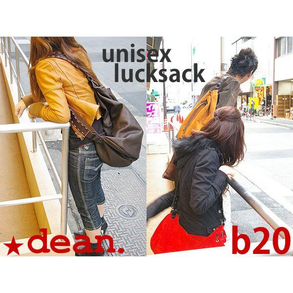 ★dean(ディーン) drow-string rucksack ショルダーバッグ 赤【日時指定不可】