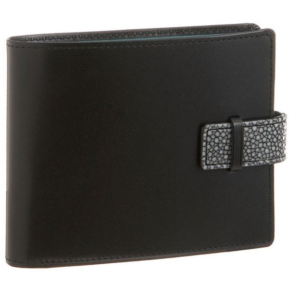 Colore Borsa(コローレボルサ) 二つ折りコインケース付き財布 ブラック MG-001【日時指定不可】