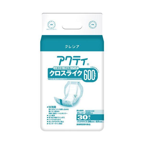 日本製紙クレシア アクティ パワー消臭パッド600 30枚6P【日時指定不可】