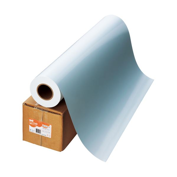 (まとめ) TANOSEE インクジェット用フォト光沢紙 RCベース 42インチロール 1067mm×30.5m 1本 【×2セット】【日時指定不可】