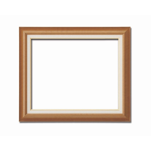 【油額】油絵額・キャンバス額・木製油絵額・茶色油絵額 ■F15号(652×530mm)「チーク」【日時指定不可】